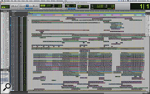Another complex edit window, this time showing the work involved in creating the track 'Celebrity'.
