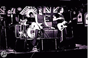 The Only Ones playing live at the Speakeasy, London, 1977.