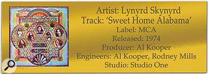 Lynyrd Skynyrd 'Sweet Home Alabama'   Classic Tracks