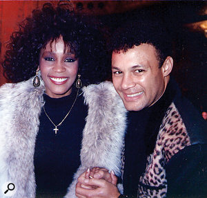 Whitney Houston with producer Narada Michael Walden.