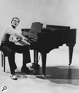 Jerry Lee Lewis performing in the 1957 film Jamboree.