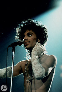 Prince on stage, 1986.Photo: Photoshot/Shooting Star