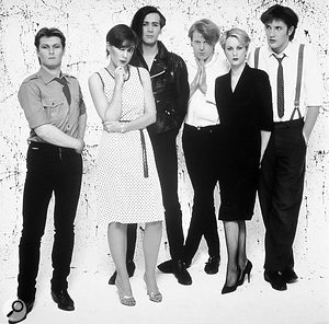 The Human League, 1981. From left to right: Jo Callis, Joanne Catherall, Phil Oakey, Adrian Wright, Susan Sulley, Ian Burden.