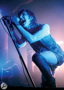 Trent Reznor on stage, 1994.