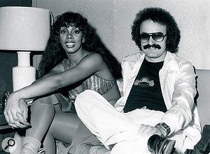 Donna Summer and Giorgio Moroder, 1977.