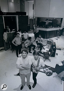 Although of an Alanta Rhythm Section session in 1970, this photo shows the unique layout of the Studio One live room and control room. To the left of the picture is the 'mobile' drum booth.