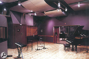 The live room at RG Jones from the 1985 brochure.