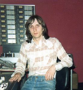 Davy Shannon at Wizard Recording, 1978.