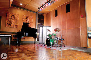 The live room of Narada Michael Walden's Tarpan Studio in San Rafael, still much as it was when Whitney Houston recorded there.