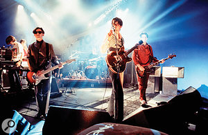 Pulp on stage in late 1994.