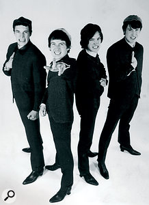 The Kinks in 1964. Left to right: Mick Avory, Pete Quaife, Dave Davies and Ray Davies.