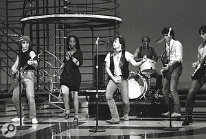 John Mellencamp and his band on American Bandstand, 1982.
