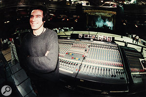 Sean Beavan during asoundcheck for aNine Inch Nails show in 1995.