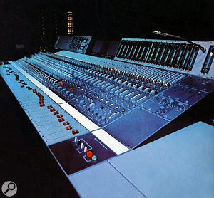 The Neve desk in Whitfield Street's Studio 3.