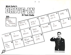 The track sheet for the original version of 'Radio Free Europe'.
