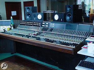 The 48-channel API desk used to record If I Should Fall From Grace With God is still in situ in RAK's Studio One, one of very few original API desks still in service in a commercial UK studio.