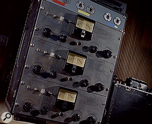 The control panel of Pye's three-track Ampex (not the four-track used on 'Downtown').
