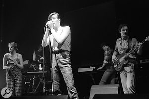 The Human League on stage shortly after the success of 'Don't You Want Me'.