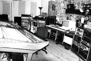 This photo of Le Pig in 1994 was taken by Trent Reznor during the recording of The Downward Spiral. To the left is the Amek Mozart console.