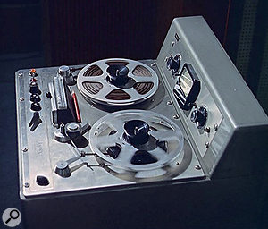 A mono Ampex tape recorder from Pye's studio 1.