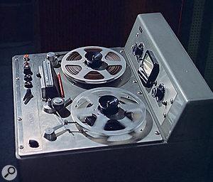 A mono Ampex tape recorder from Pye's studio 1.