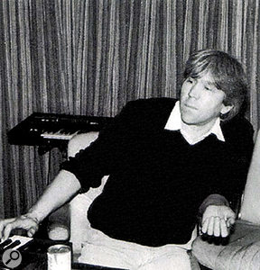 Producer Alan Tarney during the recording of 'Take On Me'.