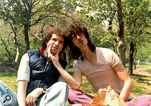 Engineer Don Wershba (left) and Mixing Engineer Harvey Goldberg in Central Park, early 1980s.