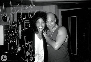Whitney Houston and Narada Michael Walden in the early-1990s.