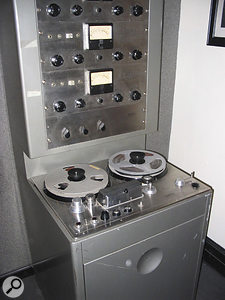 One of Sun Studio's Ampex tape recorders.