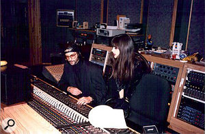 David Z at Prince's Paisley Park facility with artist Vaughn Penn back in the mid-1980s.