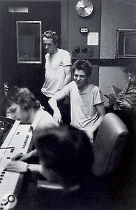 Simon Humphrey and the Clash in the control room of Whitfield Street's Studio 3.