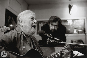 Jack Clement (left) and Sam Phillips in the 1990s.