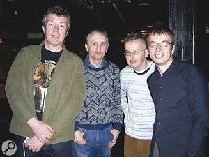 Davy Shannon with Undertones Michael Bradley and John and Damian O'Neill, 2005.