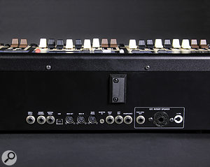 At the back of the C2D are three quarter-inch inputs for swell, rotary control and sustain pedals, aUSB port, MIDI I/O ports and an input for abass pedal (also on afive-pin DIN socket), a3.5mm monitor input, left, right and headphone outputs on quarter-inch jack sockets and, finally, ahigh-level quarter-inch jack output and 11-pin socket for driving arotary speaker.