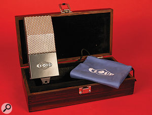 Each mic comes in a hardwood case with a soft protective bag.