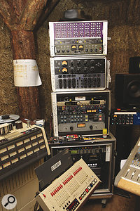 As well as Joe Leach's Otari 24‑track, the Cowshed was able to boast a healthy collection of high‑end outboard, thanks to the generosity of its sponsors.