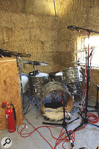 A 'Glyn Johns'‑style miking technique was employed throughout on the drums, with Coles 4038 ribbon mics as the main overhead pair.