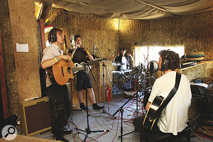 Ziegler Co were just one of many up‑and‑coming bands who made it through the audition process to record their own protest song in the Cowshed.
