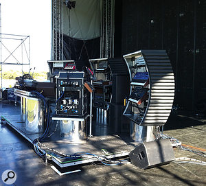 Most of the Chemical Brothers' on-stage gear is housed in custom curved racks that are designed to echo the lines of their favourite Serge modular synth.