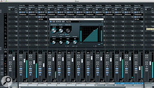 Assigning each of your GAO kit pieces to a Cubase mixer channel gives you a huge degree of control.