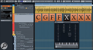 Chords can be added to the Chord Track with the pencil tool and edited using the Chord Editor.