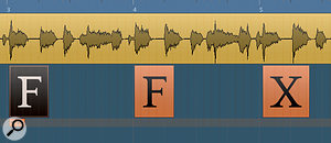 In this example, Iused an audio guide track to help me position the chord changes.