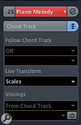 If you want to create amelodic part, the 'Scale' Live Transform setting can be used.