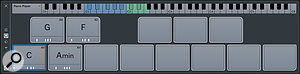 The Chord Pad panel with a modest chord selection that has created countless popular songs.
