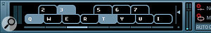 When enabled, the Virtual Keyboard shows up at the end of the Transport panel and transforms your computer's keyboard into aMIDI input device.