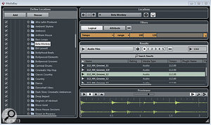 The MediaBay provides the best way to catalogue your audio loops for use in Cubase projects.