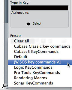 Key commands can be saved as presets to accommodate different needs or facilitate [moving between systems.