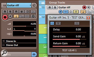 3: You might sometimes need to specify anegative latency, in which case you'll need to create amanual offset in the track's Inspector window. If you then remove the plug-in, remember to change this back to zero!