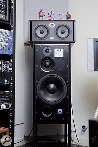 Contrasting monitoring arrangements: despite having Focal Twin and ATC 100A monitors to call on, David Kosten does much of his work on a Sony boombox.