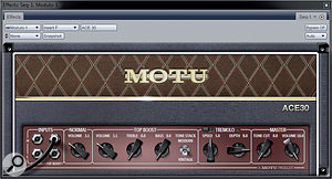 No prizes for guessing the source of inspiration behind the ACE30 amp model.